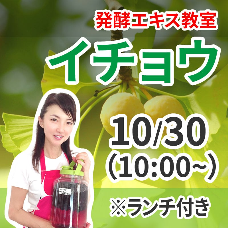 《10月30日 10:00》発酵エキス教室「イチョウ」【現地払い】※ランチ付きのイメージその1