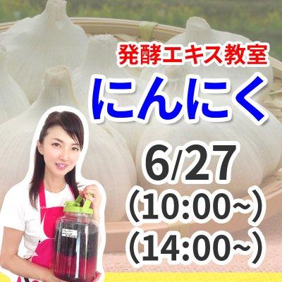 《6月27日(土)》発酵エキス教室「にんにく」無農薬 有機栽培【現地払い】