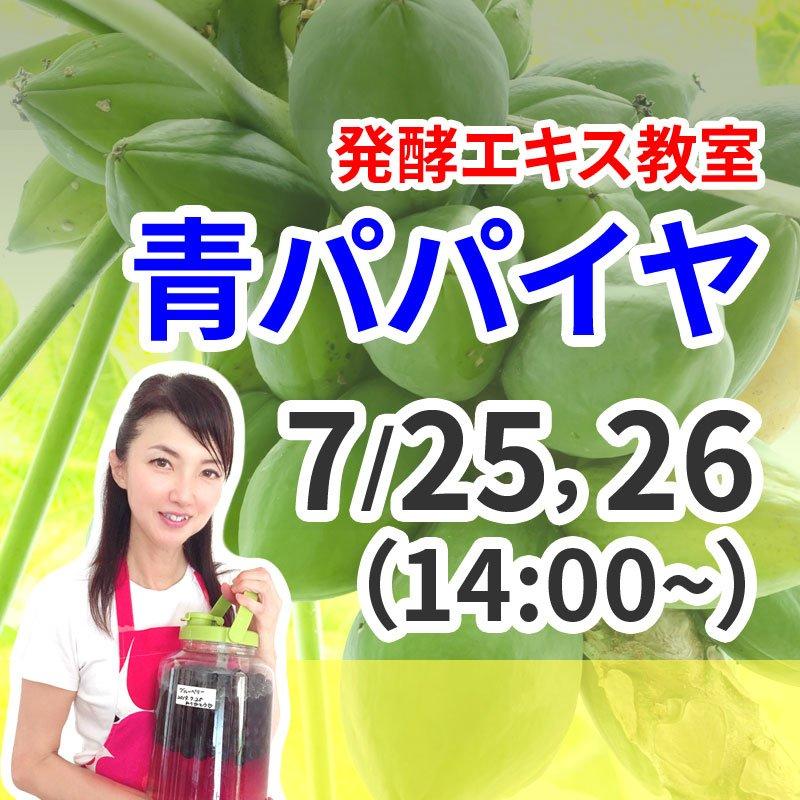 《7月25日(土)26日(日)》発酵エキス教室「無農薬パパイヤ」【現地払い】のイメージその1