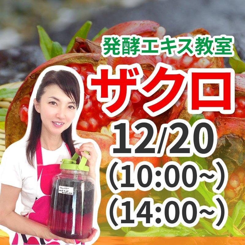12月20日(日)発酵エキス教室ザクロ【現地払い】のイメージその1