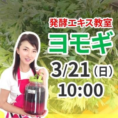 《3月21日(日)午前》発酵エキス教室「よもぎ」【現地払い】