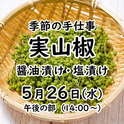 《5月26日(水)午後の部》 季節の手仕事 実山椒【現地払いのみ】