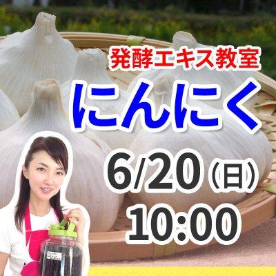 《6月20日(日)午前の部》発酵エキス教室「にんにく」無農薬 有機栽培【現地払い】