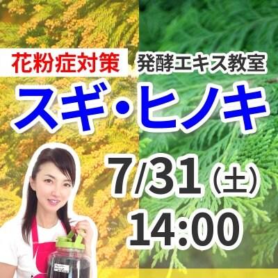 《7月31日(土)午後》発酵エキス教室「スギ、ヒノキ」花粉症対策【現地払い】