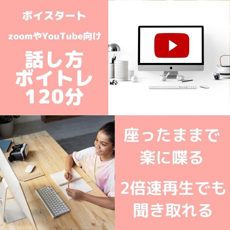 ボイスタート/zoom・YouTube向け話し方ボイストレーニング120分[単発ボイトレ]のイメージその1