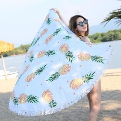 ♡パイナップルビーチマット♡ 海外取寄せ*夏*ヨガマット*旅行*インテリア*ハワイアン*アウトドア