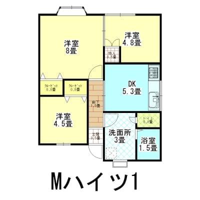 家賃1年チケット Mハイツ 新潟県燕市吉田弥生町38−21