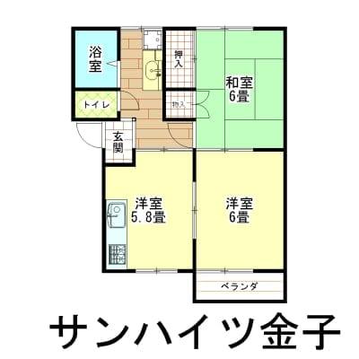 家賃1年チケット サンハイツ金子 新潟県燕市吉田春日町8−612−11