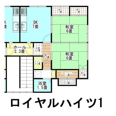家賃1年チケット ロイヤルハイツ 新潟県西蒲原郡弥彦村矢作7807−9