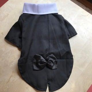 ✫新品 犬服リボン付きタキシード Mサイズ