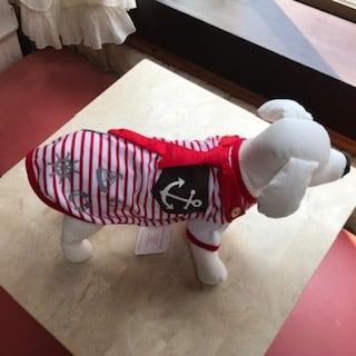 ✫新品 犬服ボーダーマリンルック