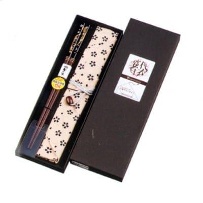 天丸桜吹雪と小花箸袋セット(男)ギフト
