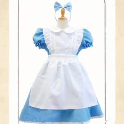 ハロウィン 衣装 大人気  シンデレラ  子供服 子供用  コスプレ衣装 2セット 服+ヘアーピン