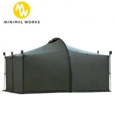 ミニマルワークス/テント/シェルター/大人数収容可能/ジャックシェルタープラス/防水/軽量/簡単設営/紫外線防止/専用収納ケース付/アウトドア/キャンプ/バーベキュー