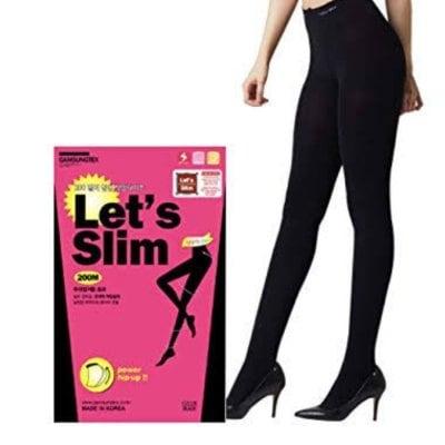 レディース Let's Slim レッツスリム 最大-5cm 美脚タイツ 着圧レギンス 履くだけでモデルのような美脚に 韓国で大ヒット
