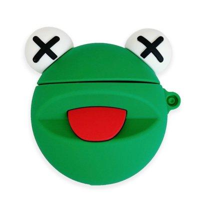 [複製]【ツクツク通販★送料無料】AirPods1.2世代/ケース/カバー/カエル/フロッグ/FLOG/Ted/全面保護/防水/防塵/キャラクター/シリコン/韓国