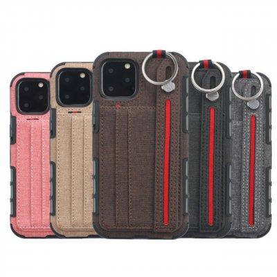 iPhone12 ケース mini Pro Max SE 11 X iphoneケース リング カードポケット付き おしゃれ シンプル アイフォン プレゼント メンズ レディース かわいい ストラップ ブラウン ブラック