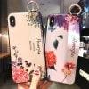 iPhone12 ケース mini Pro Max SE 11 X 花柄 カラフル おしゃれ かわいい シンプル アイフォン プレゼント 女の子 メンズ レディース 韓国 ストラップ 落下防止 バンド ホワイト ピンク
