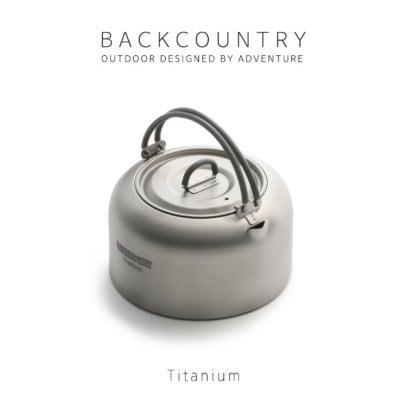 【ツクツク通販★送料無料】Backcountry バックカントリー チタニウムULケトル 1L やかん キャンプ ツーリング アウトドア用品 バーベキュー BBQ おしゃれ シンプル