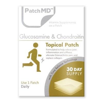 《日本公式代理店》【送料無料】関節痛 膝痛 あらゆる痛に!!『Patch MD パッチMD グルコサミン&コンドロイチン』
