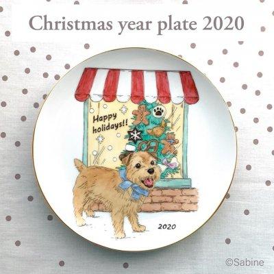 世界でひとつ☆オリジナルクリスマスプレート2020