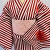 【高ポイント還元】オリジナル着物・浴衣|赤ストライプ花|かのうやよいデザイン|1点もの