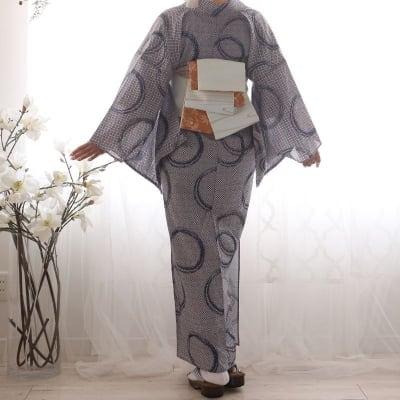 オリジナル着物・浴衣 疋田モダン輪 かのうやよいデザイン 1点もの