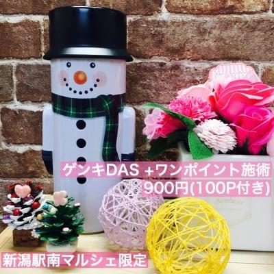 新潟マルシェ限定チケット げんきDAS + ワンポイント施術(5分ほど)