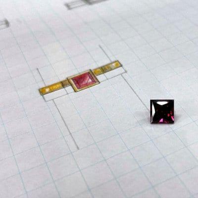 【オーダー・はるこさん専用】K18 パイロープガーネット 八角形リング
