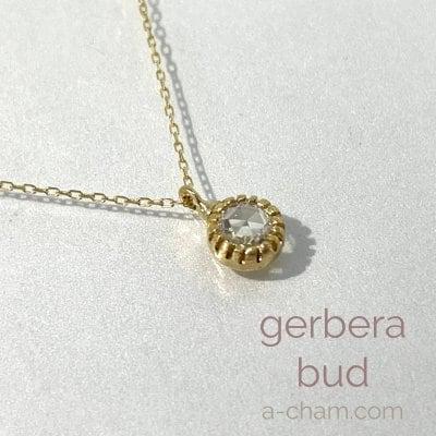 【Cham】K18YG ローズカットダイヤモンド0.11ct ペンダント Gerber...