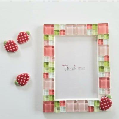 【おうち時間】【自分へのご褒美】かわいいイチゴタイルのフォトスタンド手作りキット