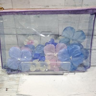 和気あいあい紫陽花ポーチ 紫
