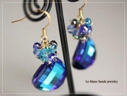 ◆◆レッスン◆◆ スワロフスキー社製クリスタライズガラスを使ったエレガントなピアスのイメージその3