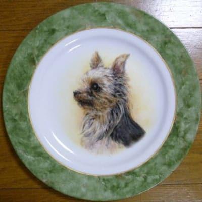 ペットの肖像画 オリジナルギフト 愛犬の肖像画プレート 世界に一つ...