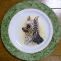 手描き「世界に一枚だけ!スペシャルな愛犬の肖像画プレート」