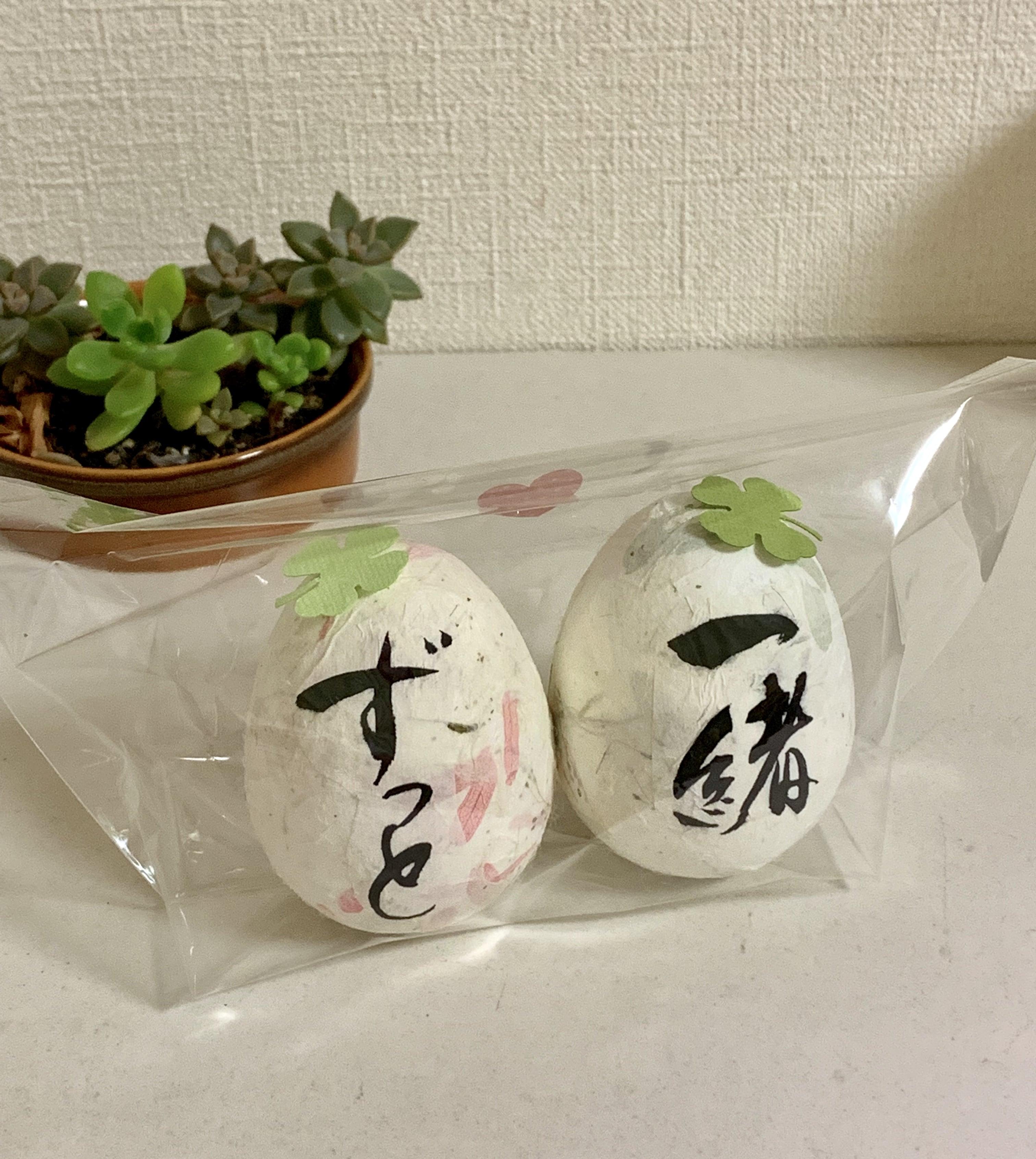 ウエディング オリジナルギフト コロコロかわいい「ウエディングエッグ」卵サイズ身長7cm、重さ1個44〜45gのイメージその4