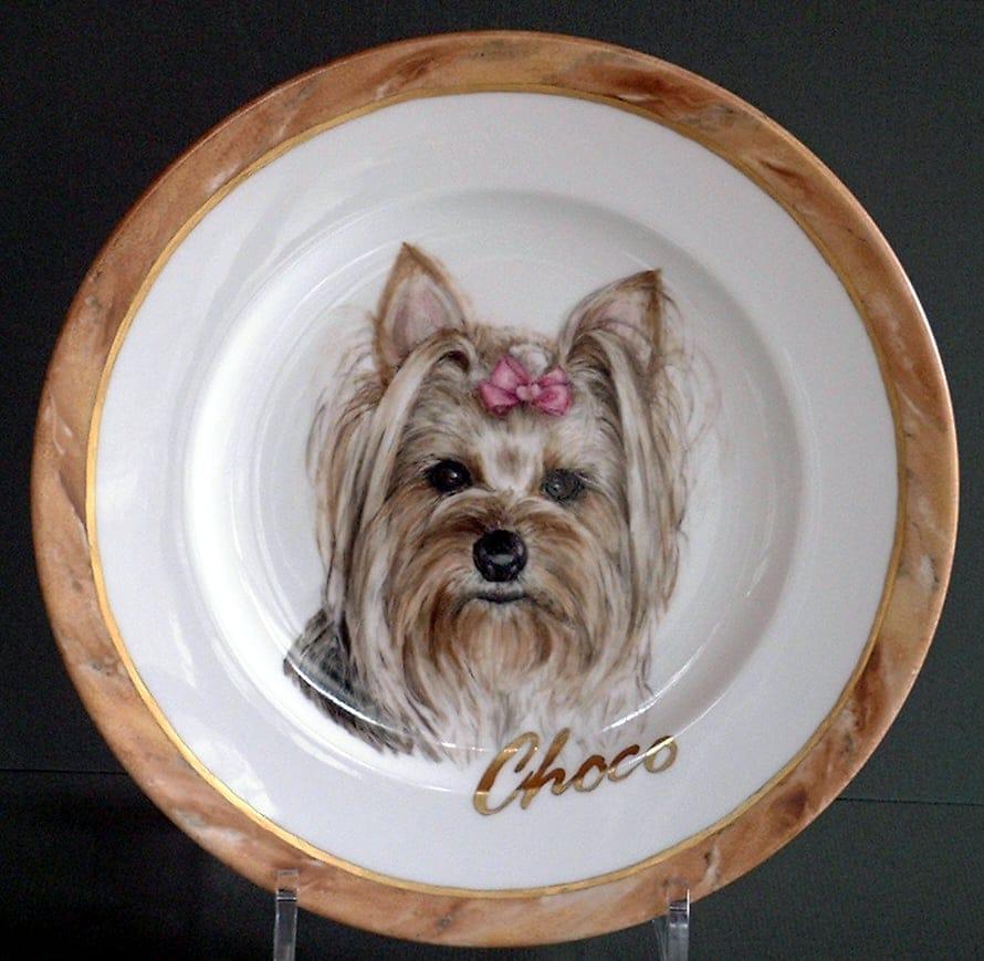 ペットの肖像画 オリジナルギフト 愛犬の肖像画プレート 世界に一枚だけ!ハンドメイドのイメージその4