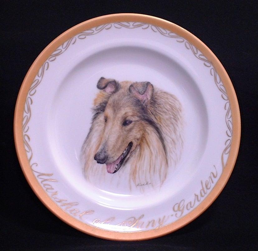 ペットの肖像画 オリジナルギフト 愛犬の肖像画プレート 世界に一枚だけ!ハンドメイドのイメージその3