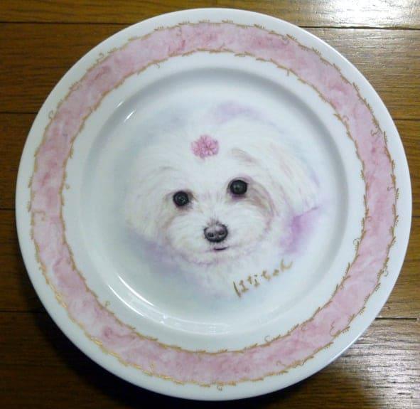 ペットの肖像画 オリジナルギフト 愛犬の肖像画プレート 世界に一枚だけ!ハンドメイドのイメージその5