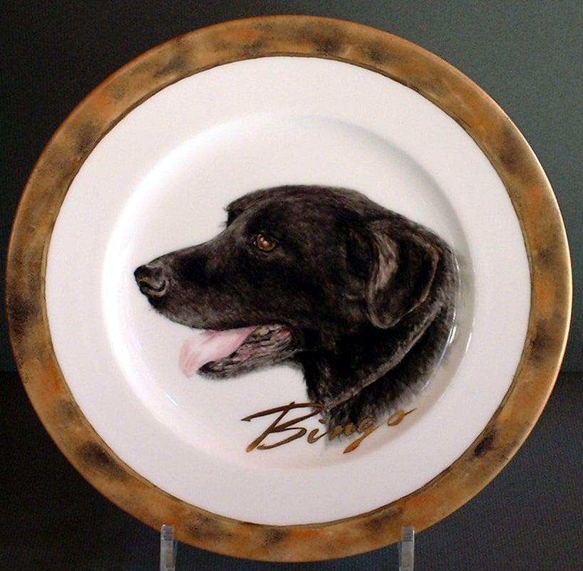 ペットの肖像画 オリジナルギフト 愛犬の肖像画プレート 世界に一枚だけ!ハンドメイドのイメージその2