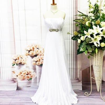 【新品】ロングドレス/Sサイズ/白/ホワイト/st-S-0027