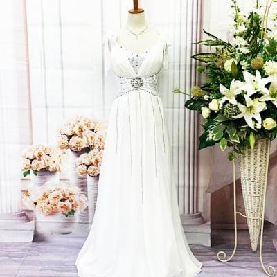 【新品】ロングドレス/Sサイズ/白/ホワイト/リボン/st-S-0032
