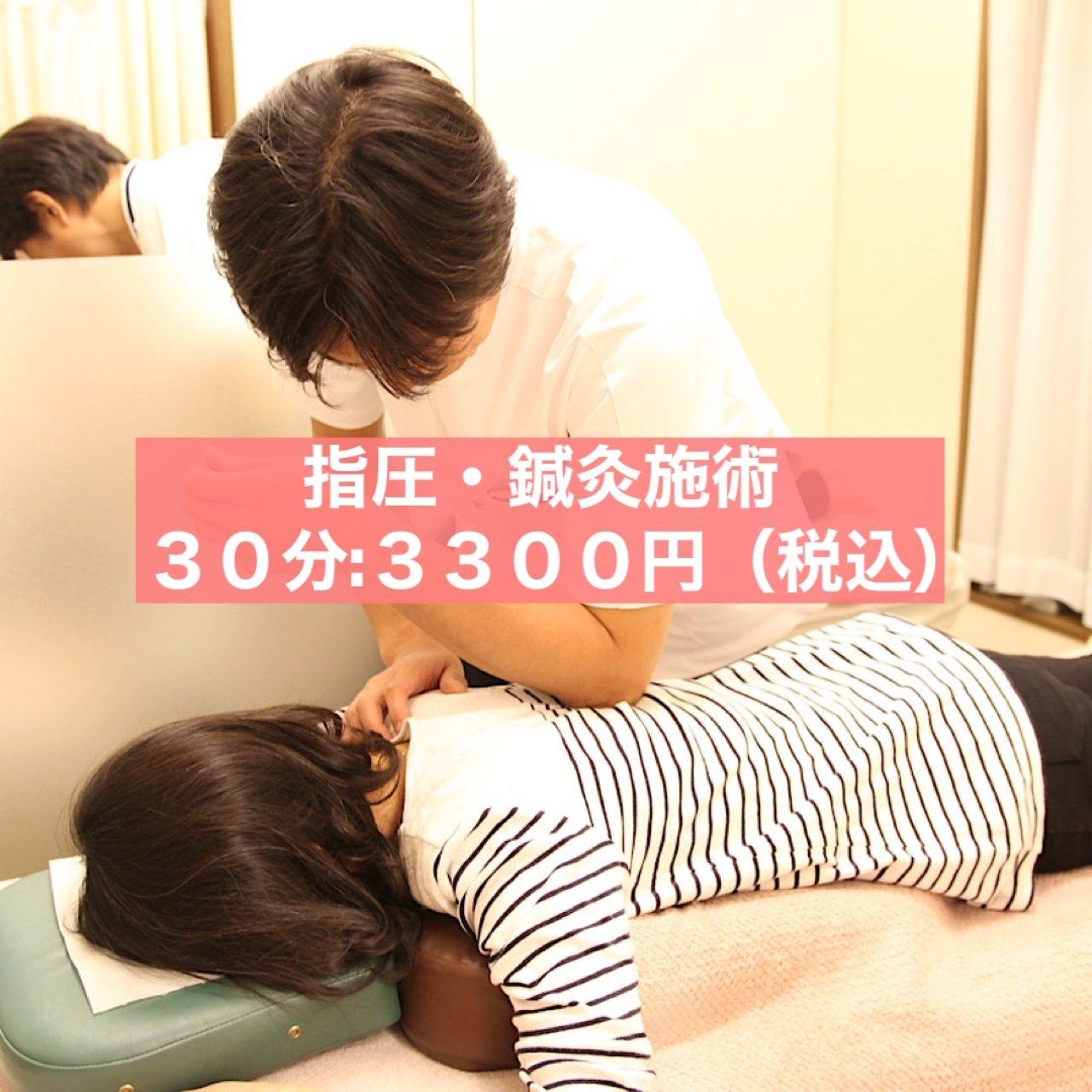 指圧・鍼灸施術料 30分 3300円〈税込〉のイメージその1