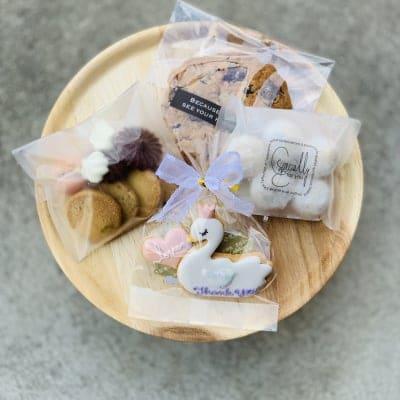 限定 幻のツクツクショップさんのこはく製菓とコラボ バレンタインデイにこはくのお菓子とお花セット