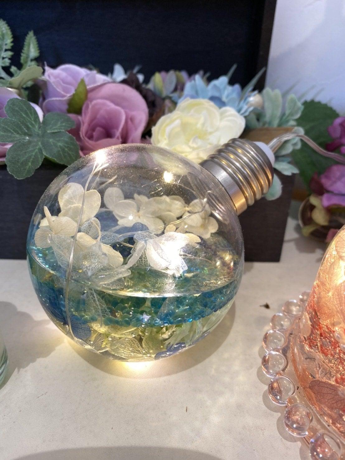 光る 3Dハーバリウム  ボトルのイメージその1