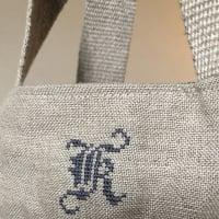 名城大学の人気カフェで刺繍クラス「岡田美里が教えるイニシャル刺繍」英国リバティプリントのトートバッグを自分らしく