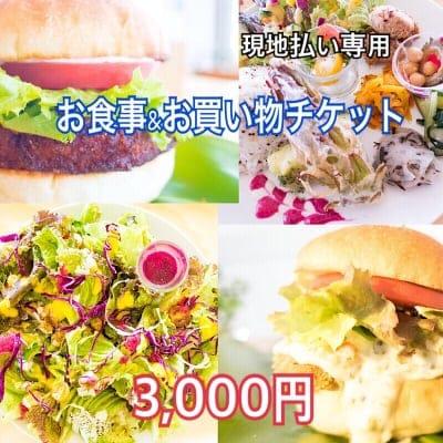 【現地払い専用】3000円 タミイズお食事&お買い物チケット