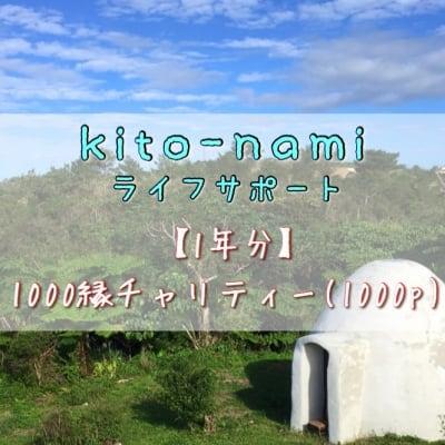 【1年分まとめて愛をお届け下さる方へ】《チャリティー》kito-namiライフスタイルサポート/1000縁×12ヶ月分 *3000縁分の愛を先にお返しコース 高ポイント還元