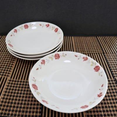 台湾 大同食器 薔薇柄 レトロ 皿 2枚
