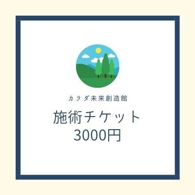 施術チケット3000円